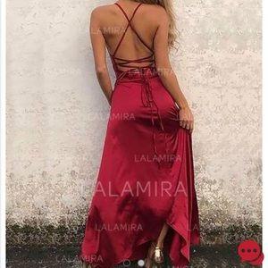 4f208df0152 lala mira Dresses - red silk prom dress